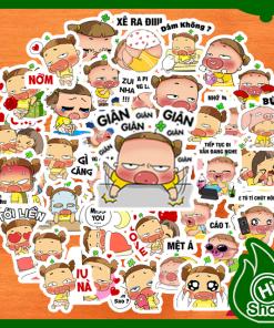 Hình Dán Sticker Quỳnh Aka