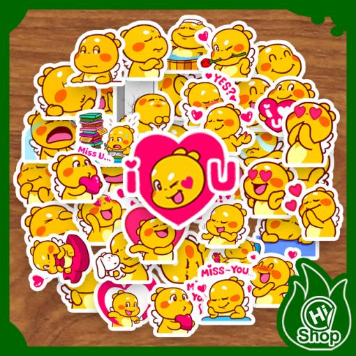 Hình Dán Sticker QooBee Ong Vàng