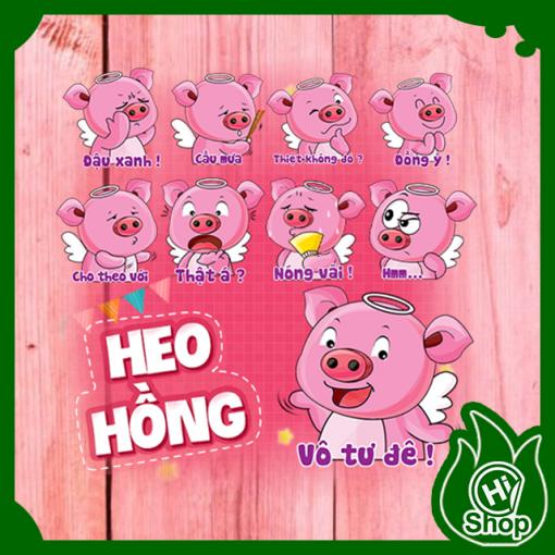 Hình Dán Sticker Heo Hồng
